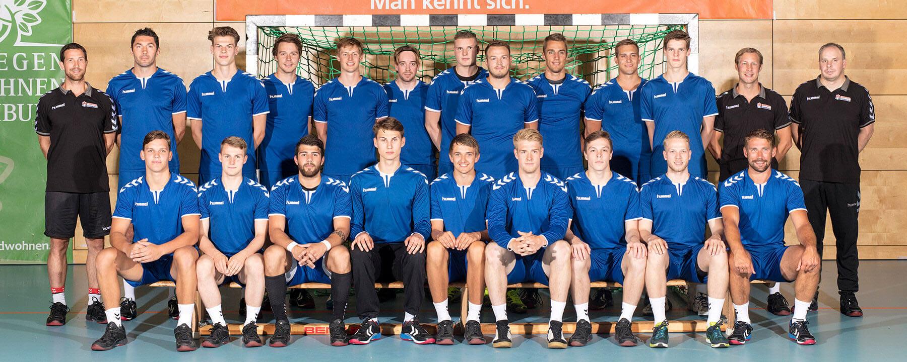Teamfoto Herren 2017/18 während der Vorbereitung