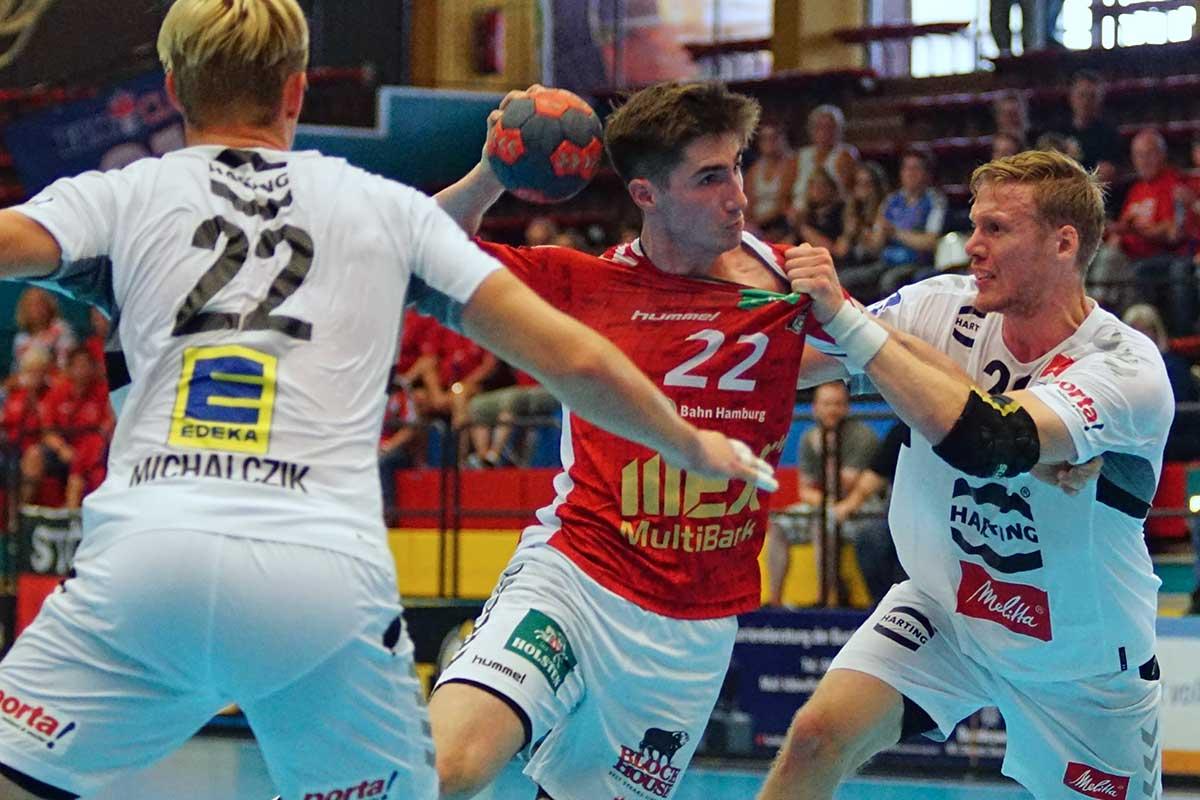 Philipp Bauer im Pokal-Spiel gegen GWD Minden